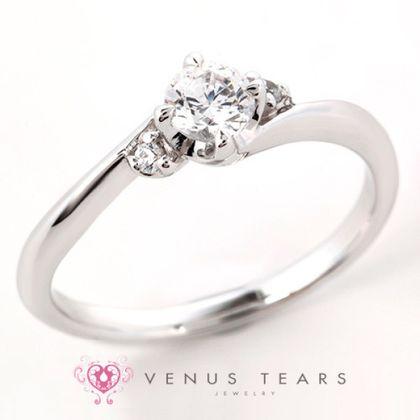 【VENUS TEARS(ヴィーナスティアーズ)】0.3ctダイヤ込価格Pt900【SSE1-03】