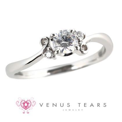 【VENUS TEARS(ヴィーナスティアーズ)】0.3ctダイヤ込価格Pt900【FES6-03】