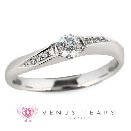 【VENUS TEARS(ヴィーナスティアーズ)】0.2ctダイヤ込価格Pt900【P772-02】