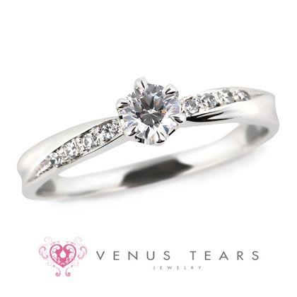 【VENUS TEARS(ヴィーナスティアーズ)】0.2ctダイヤ込価格Pt900【RQ23-02】