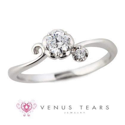 【VENUS TEARS(ヴィーナスティアーズ)】0.2ctダイヤ込価格Pt900【FES83-02】