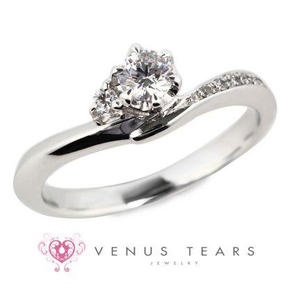 【VENUS TEARS(ヴィーナスティアーズ)】0.2ctダイヤ込価格Pt900【FES4-02】