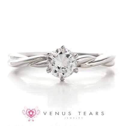 【VENUS TEARS(ヴィーナスティアーズ)】0.5ctダイヤ込価格Pt900【P920-05】