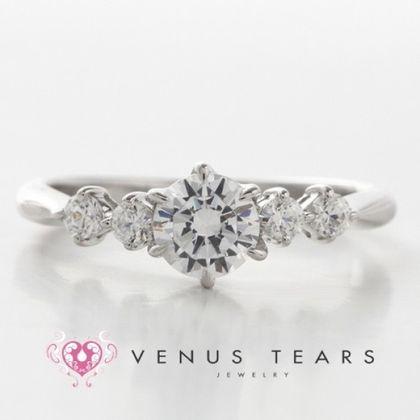 【VENUS TEARS(ヴィーナスティアーズ)】0.5ctダイヤ込価格Pt900【P462-05】