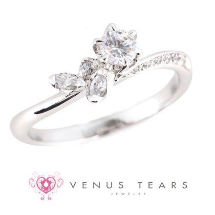 【VENUS TEARS(ヴィーナスティアーズ)】0.2ctダイヤ込価格Pt900【FES71-02】