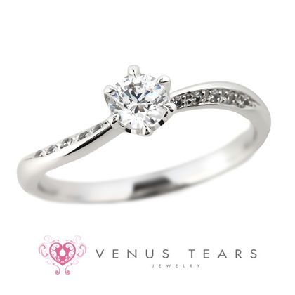 【VENUS TEARS(ヴィーナスティアーズ)】0.3ctダイヤ込価格Pt900【FES124-03】