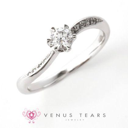 【VENUS TEARS(ヴィーナスティアーズ)】0.2ctダイヤ込価格Pt900【FES124-02】