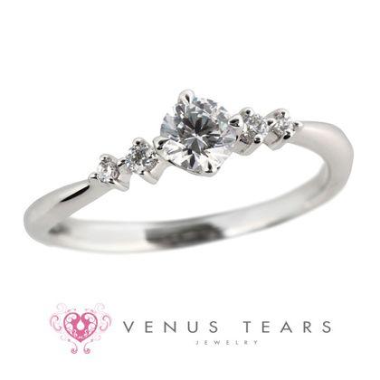 【VENUS TEARS(ヴィーナスティアーズ)】0.3ctダイヤ込価格Pt900【FES99-03】
