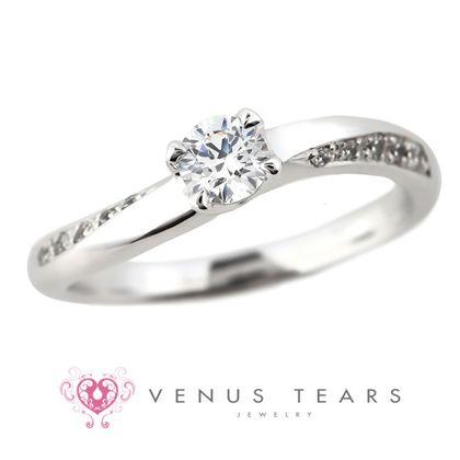 【VENUS TEARS(ヴィーナスティアーズ)】0.3ctダイヤ込価格Pt900【FES3-03】