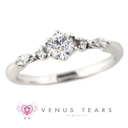 【VENUS TEARS(ヴィーナスティアーズ)】0.3ctダイヤ込価格Pt900【FES62-03】