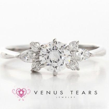 【VENUS TEARS(ヴィーナスティアーズ)】0.5ctダイヤ込価格Pt900【P521-05】