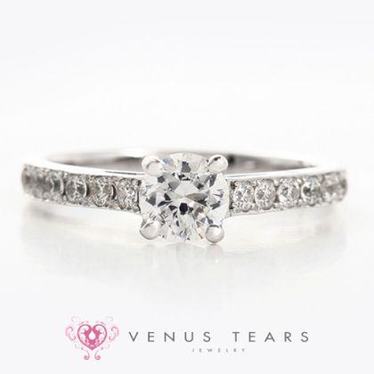 【VENUS TEARS(ヴィーナスティアーズ)】0.5ctダイヤ込価格Pt900【OE50-05】