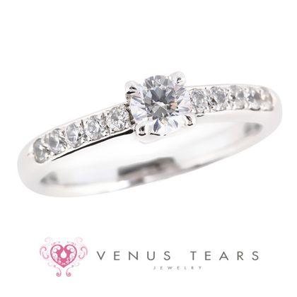 【VENUS TEARS(ヴィーナスティアーズ)】0.3ctダイヤ込価格Pt900【P935-03】