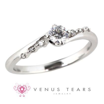 【VENUS TEARS(ヴィーナスティアーズ)】0.2ctダイヤ込価格Pt900【RQ30-02】
