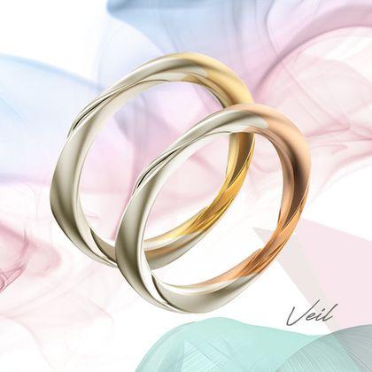 【宝石工房ヴァンモア】ベール〈風に靡く佇まい〉【ふわっ ベール_ミディアム トライアングル+ツートン】