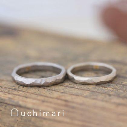 【uchimari(ウチマリ)】作り出した模様がそのままデザインになる結婚指輪
