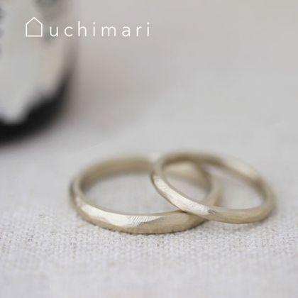 【uchimari(ウチマリ)】ふきっぱ仕上げのゆるふわ結婚指輪