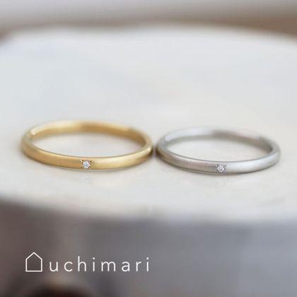 【uchimari(ウチマリ)】シンプルな丸みのある結婚指輪