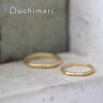 【uchimari(ウチマリ)】山ぽこマリッジリング