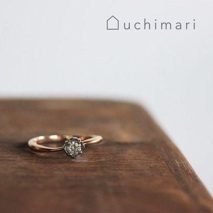 【uchimari(ウチマリ)】お花のエンゲージリング