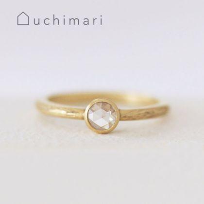 【uchimari(ウチマリ)】ローズカットダイヤの婚約指輪