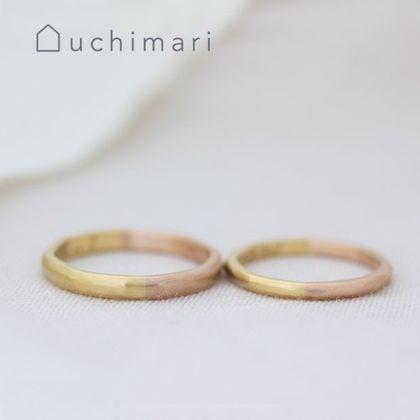 【uchimari(ウチマリ)】ピンク&イエローコンビのゆるふわ結婚指輪