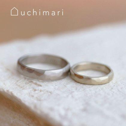 【uchimari(ウチマリ)】幅広のぽこぽこ結婚指輪