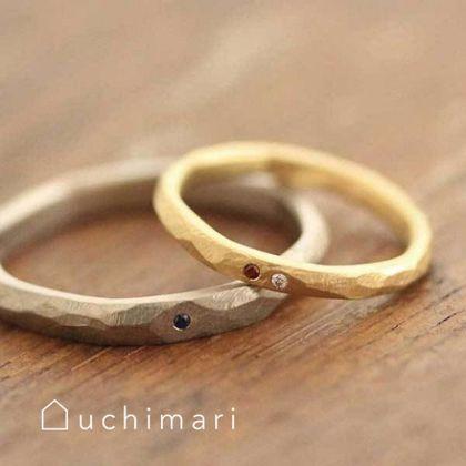 【uchimari(ウチマリ)】アンティークな雰囲気の結婚指輪