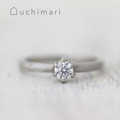 【uchimari(ウチマリ)】ゆるふわ石座の婚約指輪