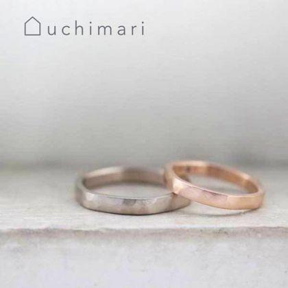 【uchimari(ウチマリ)】平打ちのゆるふわ結婚指輪