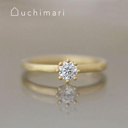 【uchimari(ウチマリ)】ミルククラウンのゆるふわエンゲージリング