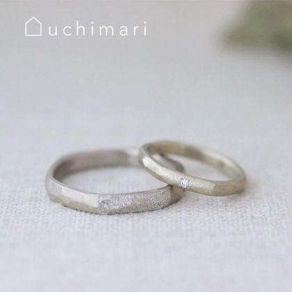 【uchimari(ウチマリ)】きらめく仕上げが華やかな結婚指輪