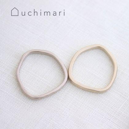 【uchimari(ウチマリ)】やわらか5角形の結婚指輪