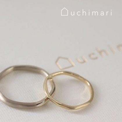 【uchimari(ウチマリ)】ふんわりカーブの結婚指輪
