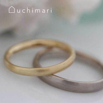【uchimari(ウチマリ)】ベーシックな甲丸の結婚指輪