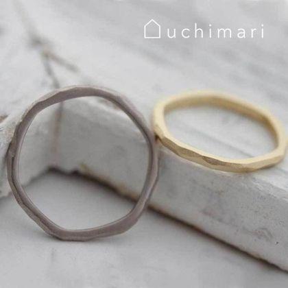 【uchimari(ウチマリ)】やわらか6角形の結婚指輪