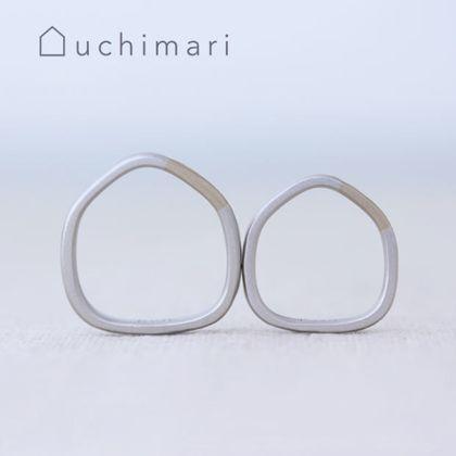 【uchimari(ウチマリ)】素材を組み合わせるやわらか5角形の結婚指輪