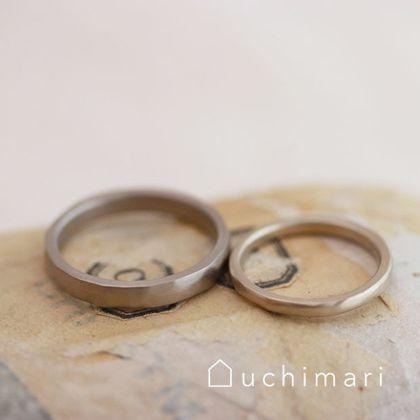 【uchimari(ウチマリ)】手しごと感のあるマリッジリング