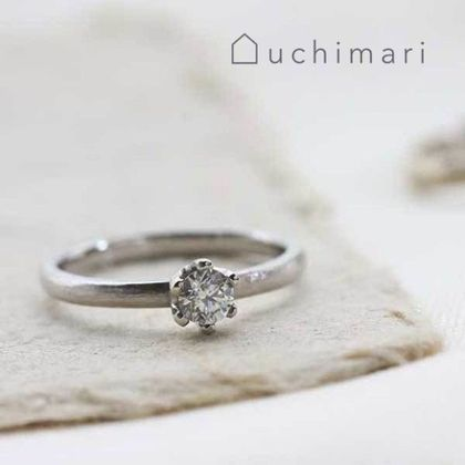 【uchimari(ウチマリ)】やすり目模様の婚約指輪
