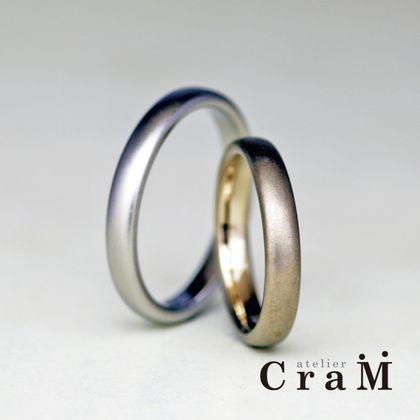 【atelier CraM(アトリエ クラム)】Ellipse Large(エリプス ラージ)/ ボリューミーな幅が指にフィットするシンプルなラウンドマリッジリング【カスタムオーダー】