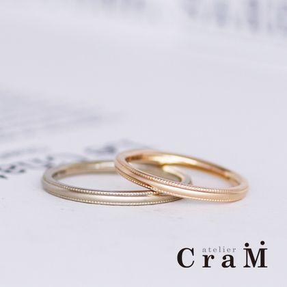 【atelier CraM(アトリエ クラム)】ゴールドでアンティーク調の結婚指輪 / Milgrain Round(ミルグレイン・ラウンド)【セミオーダー】