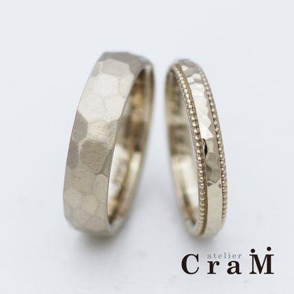 【atelier CraM(アトリエ クラム)】マリッジリング|K18ブラウンゴールド【フルオーダー】