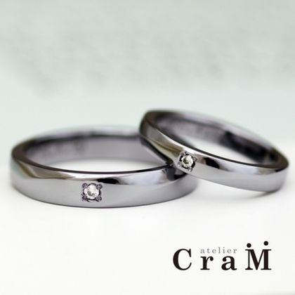 【atelier CraM(アトリエ クラム)】【アレルギーフリー】金属アレルギー対応のタンタルリング【オーダーメイド結婚指輪】