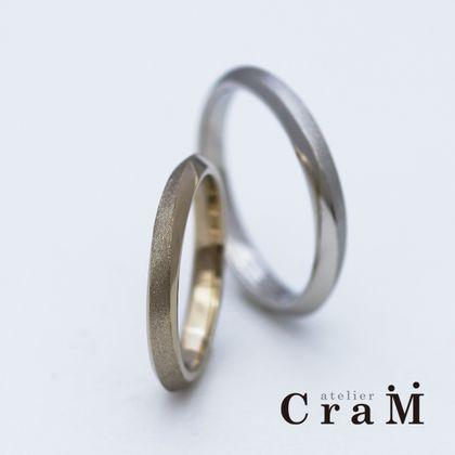 【atelier CraM(アトリエ クラム)】360°どこから見ても美しいきりかえしラインですっきりとした結婚指輪/Passage(パッセージ)【カスタムオーダー】