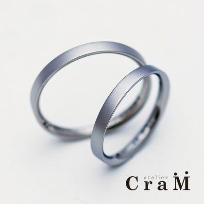 【atelier CraM(アトリエ クラム)】角っぽいのに超内甲丸で着け心地抜群の結婚指輪/Sequence(シークエンス)【カスタムオーダー】