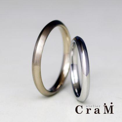 【atelier CraM(アトリエ クラム)】Triangle(トライアングル)/ シンプルだけどアレンジを加えた人とは被らないような結婚指輪【カスタムオーダー】