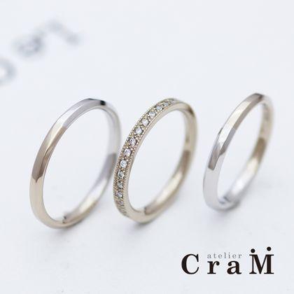 【atelier CraM(アトリエ クラム)】ブラウンゴールド×プラチナのカスタムコンビリング【セミオーダー】
