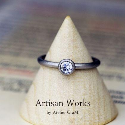 【atelier CraM(アトリエ クラム)】Round(ラウンド)自然な着け心地の甲丸エンゲージリング【セミオーダー】