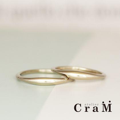 【atelier CraM(アトリエ クラム)】ただのシンプルに飽きた人必見。シンプルなのに個性的なぷっくりリング / Signe Round(サイン ラウンド)【カスタムオーダー】
