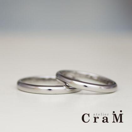 【atelier CraM(アトリエ クラム)】金属アレルギー対応|着け心地の良いチタン製甲丸マリッジリング【オーダーメイド】